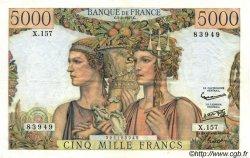 5000 Francs TERRE ET MER FRANCE  1957 F.48.13 SUP