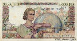 10000 Francs GÉNIE FRANÇAIS FRANCE  1950 F.50.27 TB à TTB