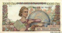 10000 Francs GÉNIE FRANÇAIS FRANCE  1951 F.50.47 pr.TTB