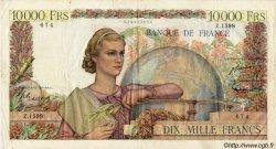 10000 Francs GÉNIE FRANÇAIS FRANCE  1951 F.50.52 VF