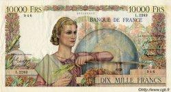 10000 Francs GÉNIE FRANÇAIS FRANCE  1952 F.50.56 TTB+