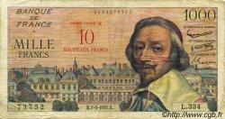 10 NF sur 1000 Francs RICHELIEU FRANCE  1957 F.53.01 pr.TB