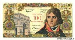 100 NF sur 10000 Francs BONAPARTE FRANCE  1958 F.55.01 SPL+