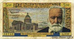5 Nouveaux Francs VICTOR HUGO FRANCE  1964 F.56.15 pr.TB