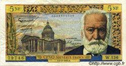 5 Nouveaux Francs VICTOR HUGO FRANCE  1965 F.56.17 TTB