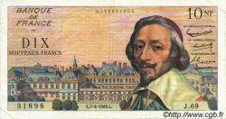 10 Nouveaux Francs RICHELIEU FRANCE  1960 F.57.06 TTB