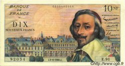 10 Nouveaux Francs RICHELIEU FRANCE  1960 F.57.08 pr.SUP