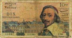 10 Nouveaux Francs RICHELIEU FRANCE  1960 F.57.08 AB