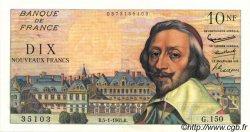10 Nouveaux Francs RICHELIEU FRANCE  1961 F.57.13 pr.SPL