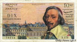 10 Nouveaux Francs RICHELIEU FRANCE  1961 F.57.15 B+