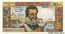 50 Nouveaux Francs HENRI IV FRANCE  1961 F.58.06 TTB
