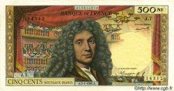 500 Nouveaux Francs MOLIÈRE FRANCE  1961 F.60.03 TTB+