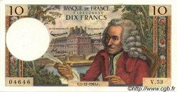 10 Francs VOLTAIRE FRANCE  1963 F.62.06 SUP