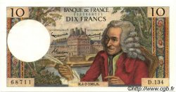 10 Francs VOLTAIRE FRANCE  1965 F.62.13 SUP+