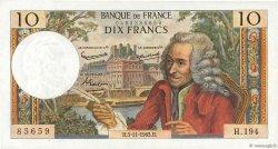 10 Francs VOLTAIRE FRANCE  1965 F.62.17 SUP