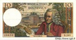 10 Francs VOLTAIRE FRANCE  1966 F.62.21 pr.SUP