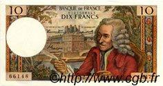 10 Francs VOLTAIRE FRANCE  1967 F.62.26 SUP à SPL