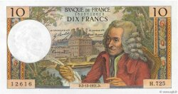 10 Francs VOLTAIRE FRANCE  1967 F.62.30 SUP