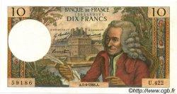10 Francs VOLTAIRE FRANCE  1968 F.62.34 pr.SPL