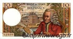 10 Francs VOLTAIRE FRANCE  1968 F.62.35 SUP+