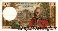 10 Francs VOLTAIRE FRANCE  1969 F.62.36 SUP