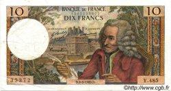 10 Francs VOLTAIRE FRANCE  1969 F.62.38 TTB