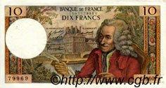10 Francs VOLTAIRE FRANCE  1971 F.62.49 SUP+