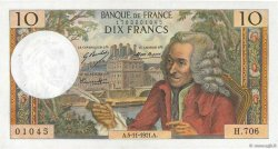 10 Francs VOLTAIRE FRANCE  1971 F.62.52 SUP à SPL