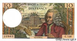 10 Francs VOLTAIRE FRANCE  1972 F.62.54 SUP+