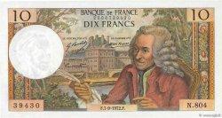 10 Francs VOLTAIRE FRANCE  1972 F.62.58 SPL