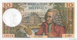 10 Francs VOLTAIRE FRANCE  1973 F.62.60 SUP+
