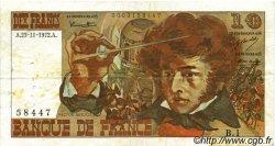10 Francs BERLIOZ FRANCE  1972 F.63.01 TB