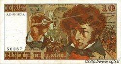 10 Francs BERLIOZ FRANCE  1972 F.63.01 pr.TTB