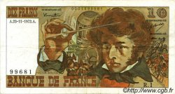 10 Francs BERLIOZ FRANCE  1972 F.63.01 TTB