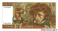 10 Francs BERLIOZ FRANCE  1974 F.63.04 SPL