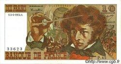 10 Francs BERLIOZ FRANCE  1974 F.63.04 SUP+