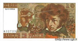 10 Francs BERLIOZ FRANCE  1978 F.63.23 SPL+