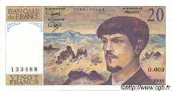 20 Francs DEBUSSY FRANCE  1980 F.66.01 SUP+