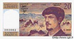 20 Francs DEBUSSY FRANCE  1980 F.66.01 pr.NEUF