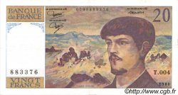 20 Francs DEBUSSY FRANCE  1980 F.66.01 SUP+