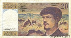 20 Francs DEBUSSY FRANCE  1980 F.66.01-A6 TB