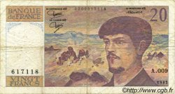 20 Francs DEBUSSY FRANCE  1982 F.66.03 TB