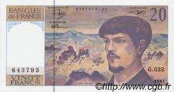 20 Francs DEBUSSY à fil de sécurité FRANCE  1991 F.66bis.02 NEUF