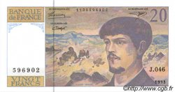 20 Francs DEBUSSY à fil de sécurité FRANCE  1993 F.66bis.05 NEUF