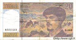 20 Francs DEBUSSY modifié FRANCE  1997 F.66ter.02 TTB