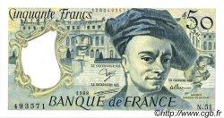 50 Francs QUENTIN DE LA TOUR FRANCE  1988 F.67.14 SPL+