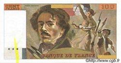100 Francs DELACROIX modifié FRANCE  1978 F.69.01 SUP à SPL