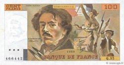 100 Francs DELACROIX modifié FRANCE  1980 F.69.04a pr.NEUF