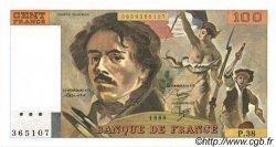 100 Francs DELACROIX modifié FRANCE  1980 F.69.04a SPL+