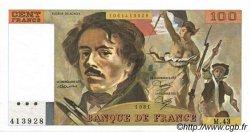 100 Francs DELACROIX modifié FRANCE  1981 F.69.05 pr.SPL
